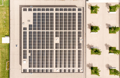 ISP Electro Solution AG Luftaufnahmen Solardach