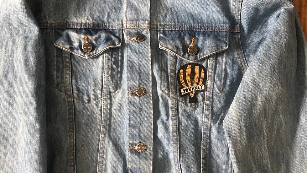 Oh The Races We'll go-jean traveling jacket small