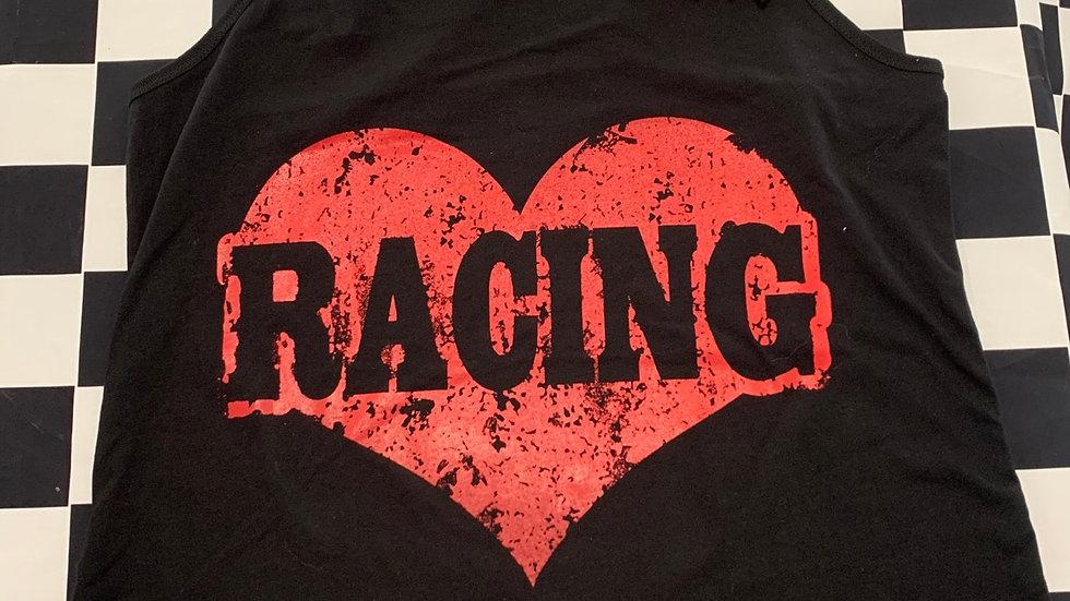 "Black ""Racing"" tank top"