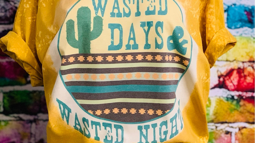 Wasted Days & Wasted Nights tee