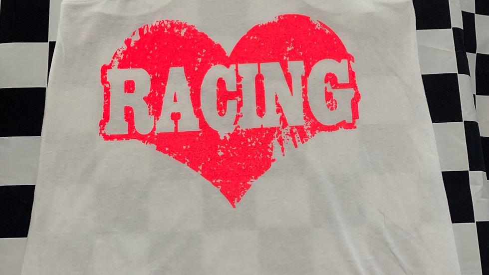 "White ""Racing"" tank top"