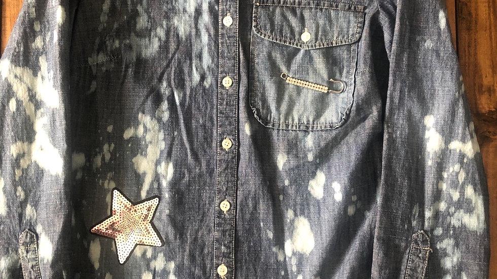 Glitter & Dirt-Small denim ladies shirt