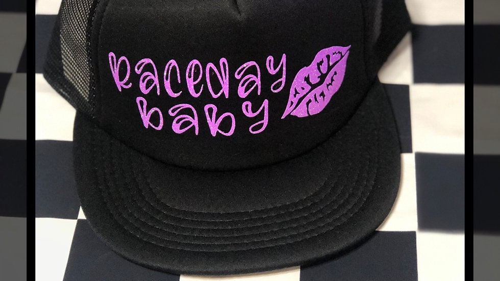 Trucker hat - glitter purple