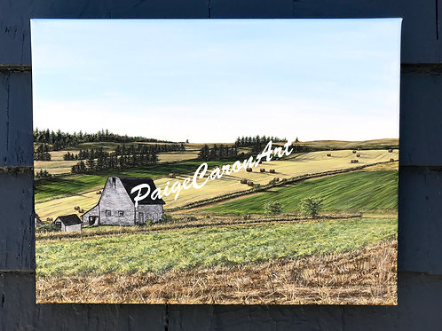 Autumn Afternoon - Irishtown Rd, PEI - Original Acrylic Painting