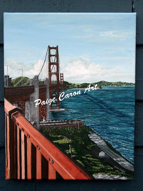 """Golden Gate Morning"", San Francisco, CA - Original Acrylic Painting"