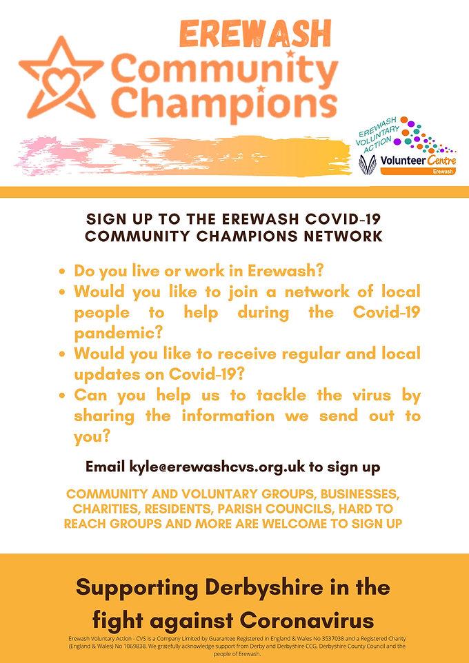 Sign up to the Erewash Covid-19 Communit