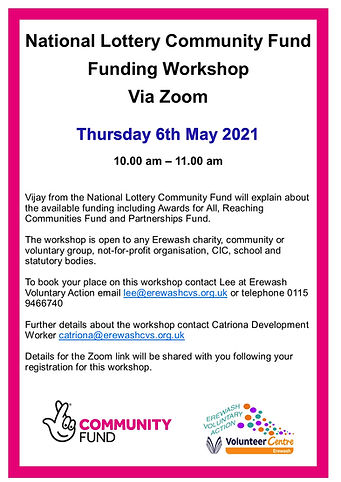 National Lottery Community fund poster a