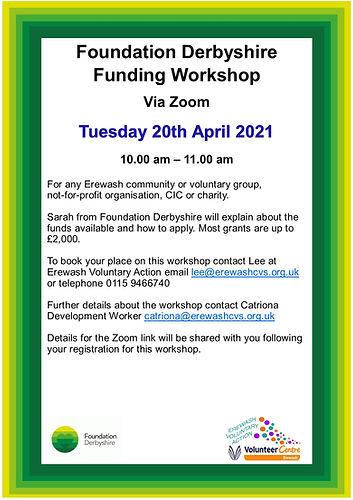 Foundation Derbyshire Workshop Poster nd