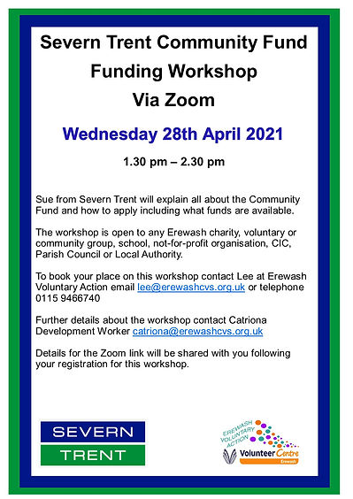 Severn Trent workshop poster and booking