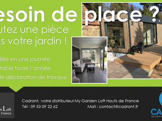 Cadrant votre distributeur My Garden Loft Nord Pas-de-Calais