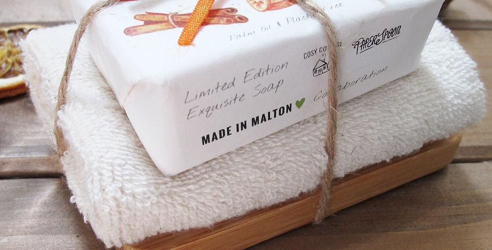 Luxury Soap Cloth and Dish Set