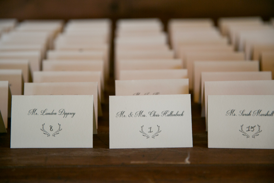 Custom Logo Place Cards