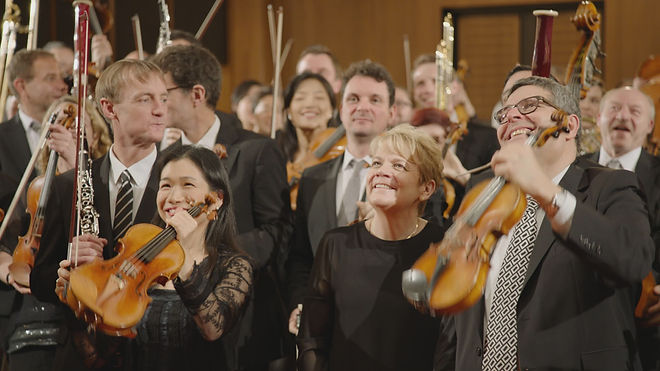 The ORF Orchestra with Marin Alsop.