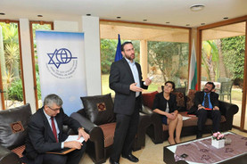 Sam moderating a panel on Diaspora politics for the Israel Council on Foreign Relations.