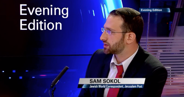 Sam providing commentary on European attempts to ban circumcision on i24 News.