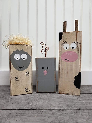 Country animals (set of 3)