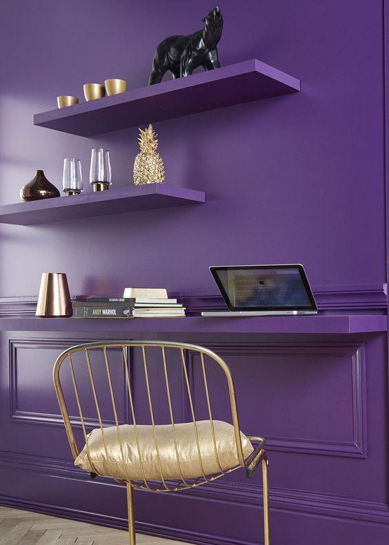 интерьер в фиолетовом цвете