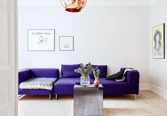 комната в фиолетовом цвете