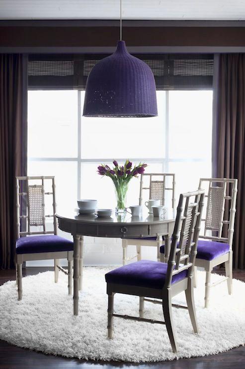 сочетание цветов с фиолетовым в интерьере