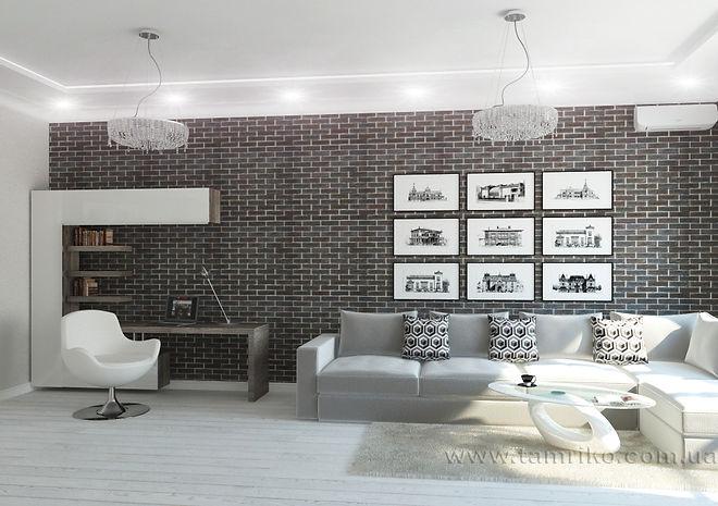 Современный дизайн интерьера квартиры в Харькове дизайн интерьера кухни гостиной