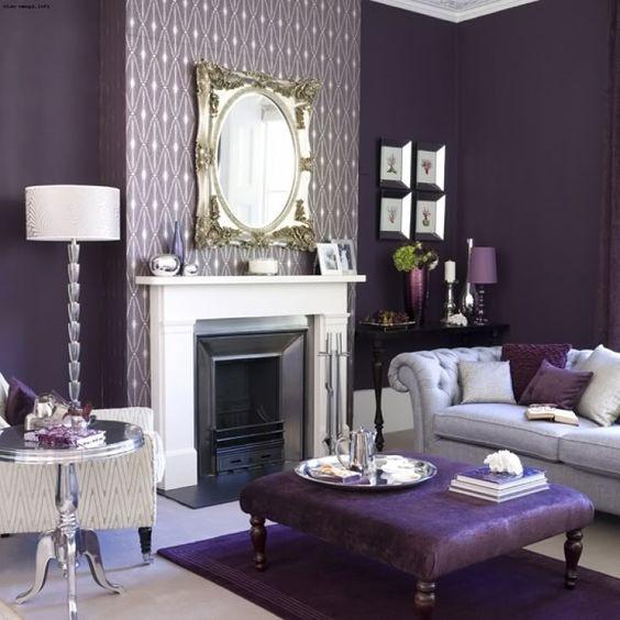 гостиная в фиолетовом цвете фото