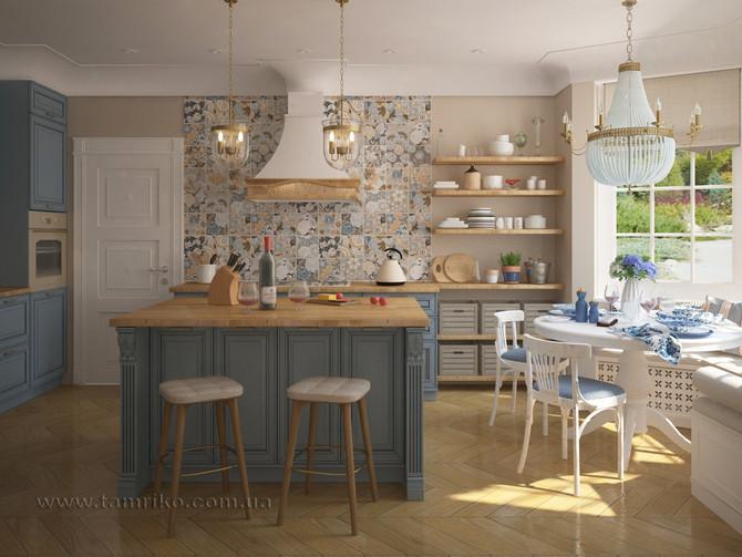 Свежесть Прованса. Дизайн интерьера кухни.