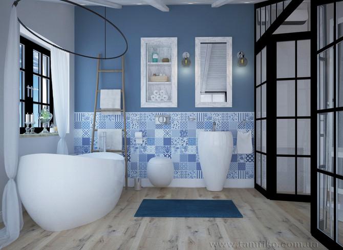 Романтичный дизайн ванной комнаты