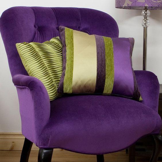 кресло в фиолетовом цвете
