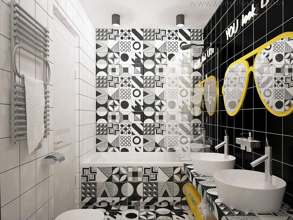 дизайн ванной комнаты маленького размера фото