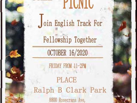 English Track Fall Picnic