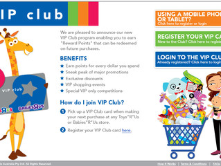 "Toys""R""Us & IQ Gecko create VIP Club"