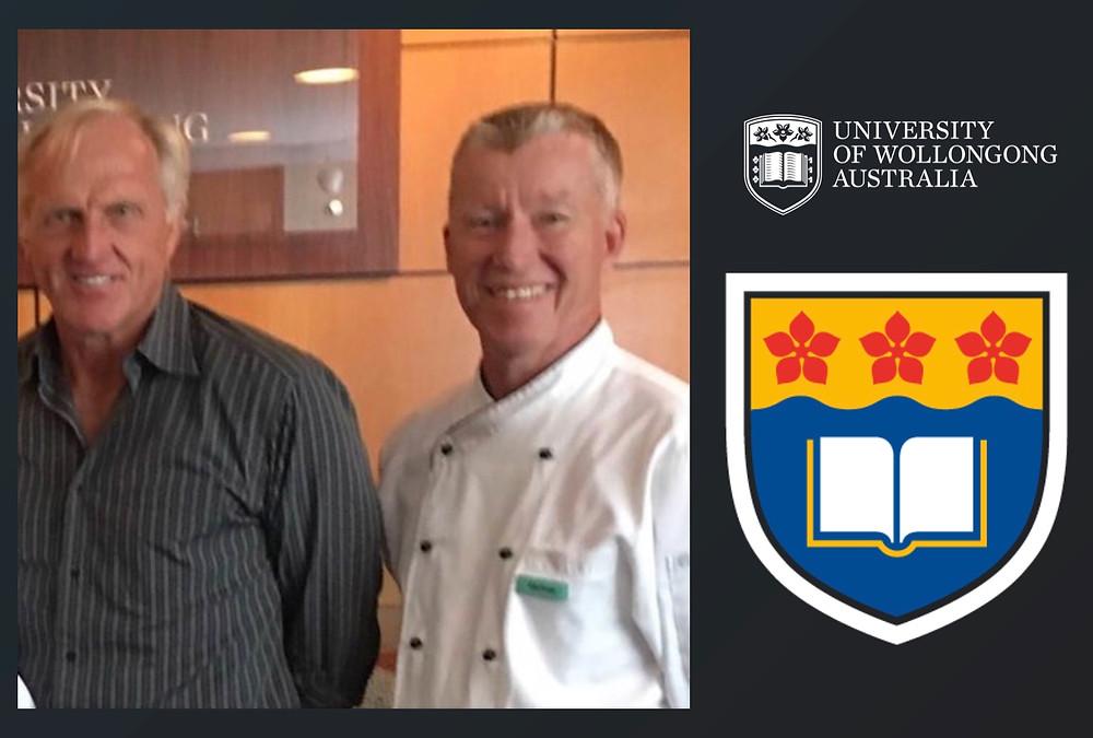 Greg Norman at the University of Wollongong