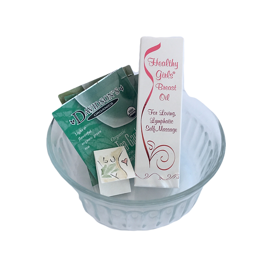 Healthy Girls Breast Health Healing Care Kit - Aromatherapy Oi l+ Organic Tea