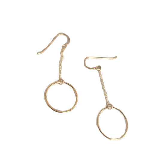 Delicate Open Circles- Modern Minimalist Gold Earrings