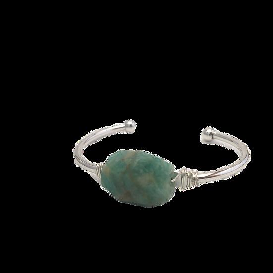 Balancing Amazonite - Bangle-Cuff Bracelet