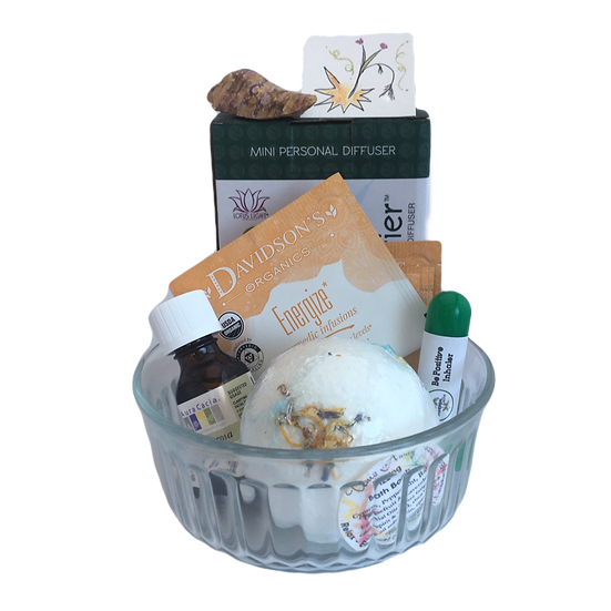 Heart Joy Luxury Healing Care Kit -Essential Oil+Diffuser+Inhaler+Bath+Tea