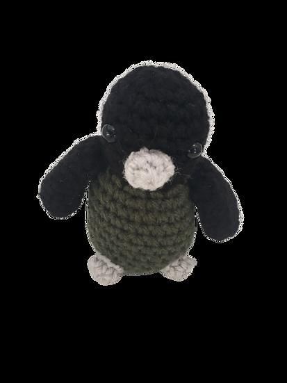 Deep Gorgeous Green + Grey + Black- Amigurumi Crochet Bird