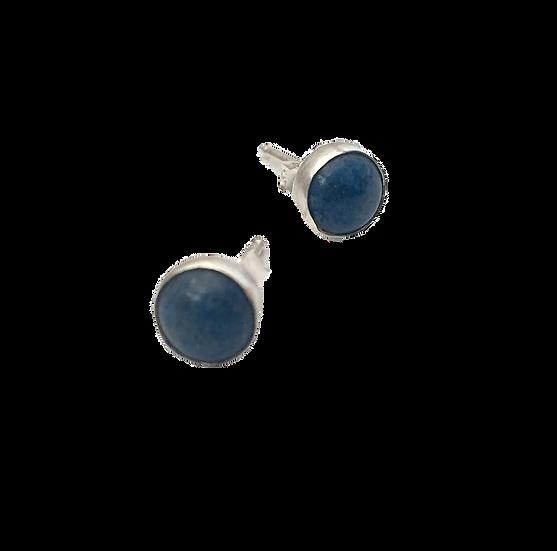 Starlight & Night - Lapis Lazuli Stone + Silver Stud Earrings