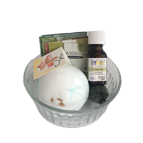 Citrus Cheer Healing Care Kit - Essential Oil+ Bath Bomb+ Tea+ Crochet Toy