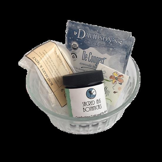 Cold & Flu Healing Care Kit - Chest Balm+ Candles+ Decongest Tea + Mini Art Card