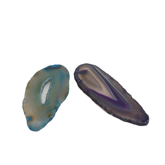 Colorful Agate - Blue + Purple Stone Slices