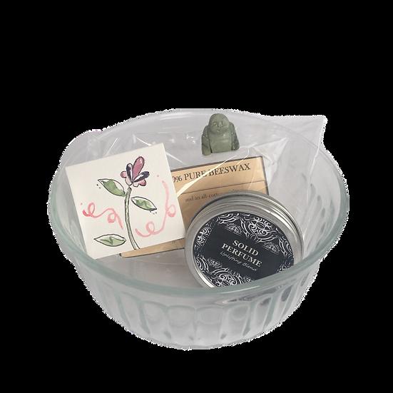 Uplifting Healing Care Kit - Beeswax Candles+ Solid EO Perfume+ Mini Jade Buddha