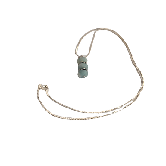 Soothing Amazonite - Sterling Silver Necklace