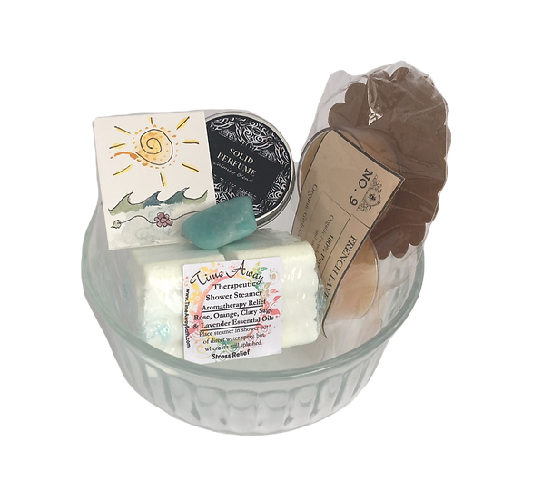 Calm Healing Care Kit - Beeswax Candles+ Amazonite+ Aromatherapy Shower+Perfume