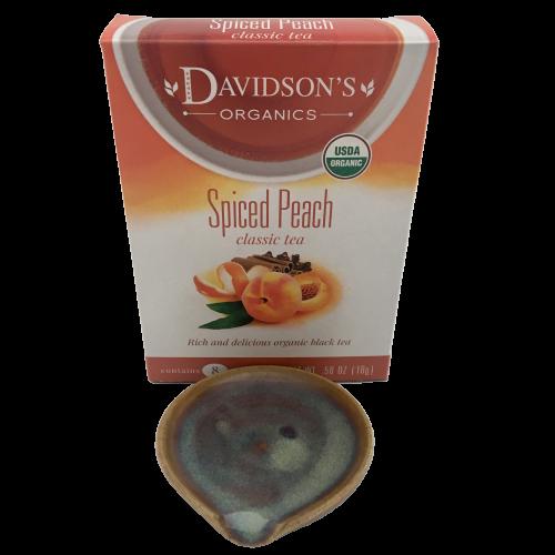Spiced Peach + Rutile Blue - Organic Tea + Spoon Rest