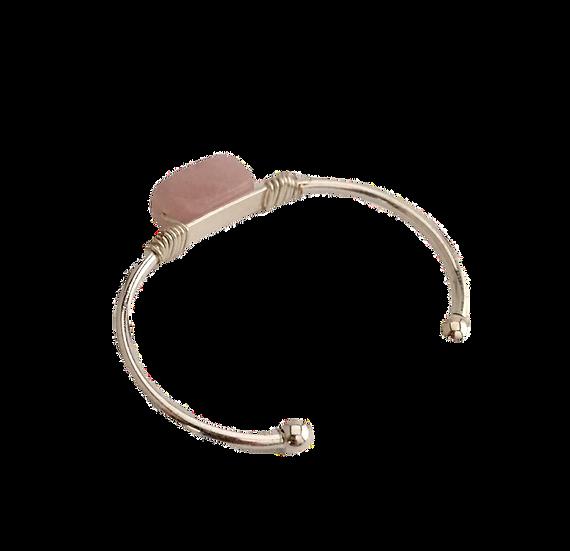 Nurturing Rose Quartz - Bangle-Cuff Bracelet