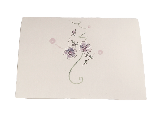 Botanical Queen Cards- Sweet Baby Blue Eyes- OOAK Original Art Greeting