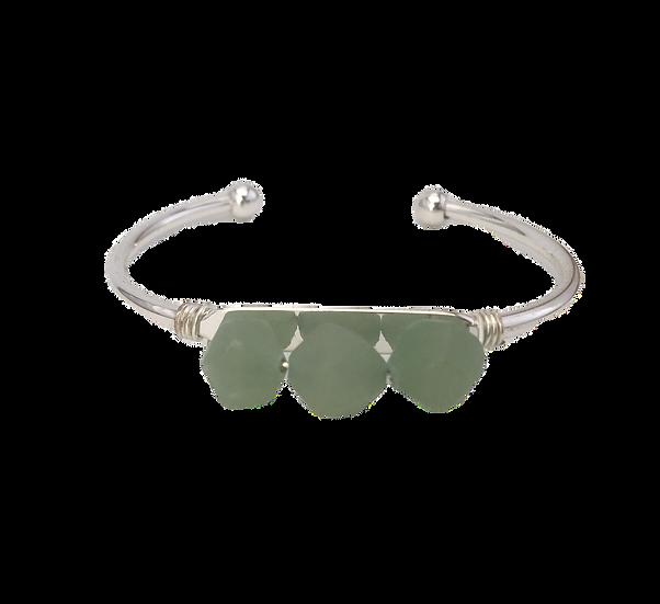 Abundant Aventurine- Bangle-Cuff Bracelet
