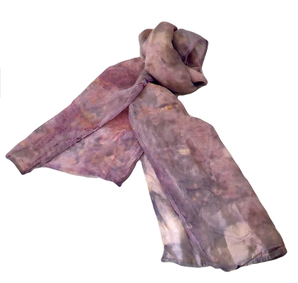 Perfect Purple Eco-Dyed Silk - Wearable Art Scarf