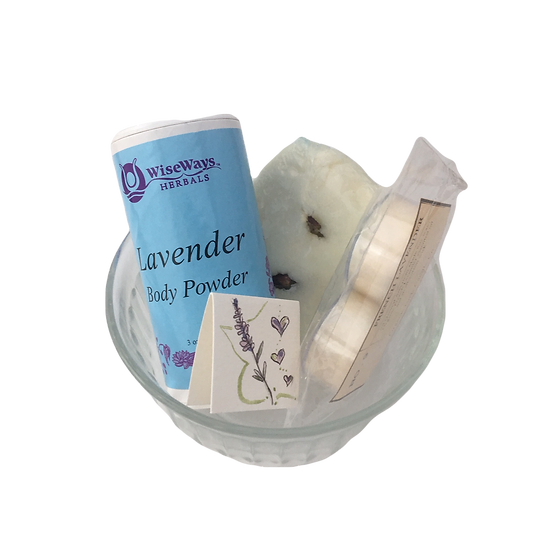 Lavender Lovers Healing Care Kit - Aromatherapy Candles+ Bubble Bath+Body Powder
